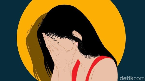 Poster Ilustrasi pemerkosaan (Edi Wahyono/detikcom)