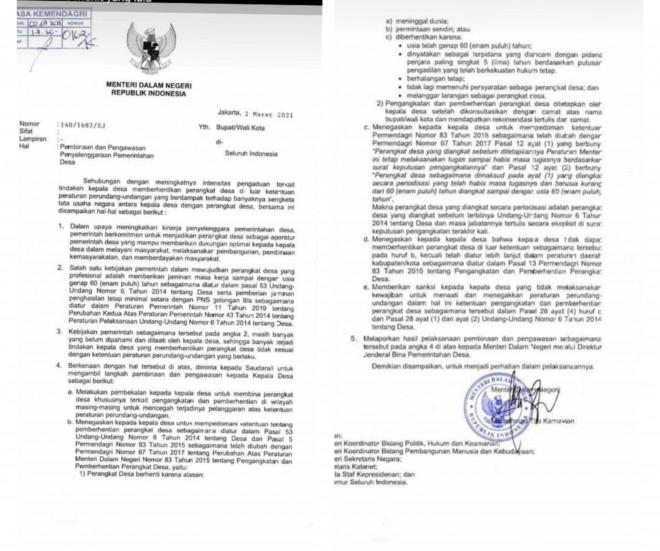 Tak Sependapat, Pjs Kades Pecat Lima Perangkat Desa