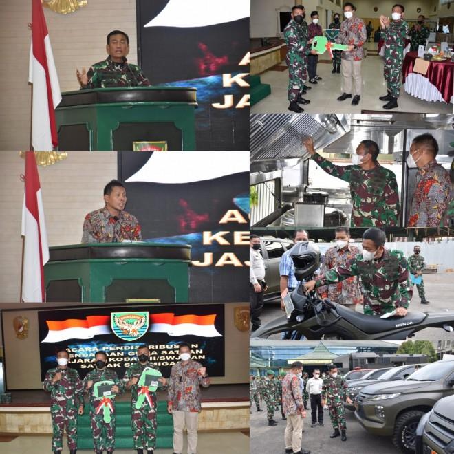 Perkuat Satgas BINTER TNI AD, SKK Migas-SKK Sumbagsel Serahkan Kendaraan Operasional