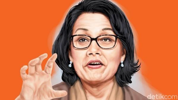 Poster Sri Mulyani, Foto: Edi Wahyono