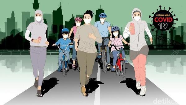 Foto: Ilustrasi hidup di masa pandemi. (Edi Wahyono-detikcom)