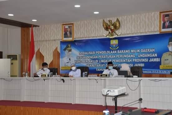 Pj.Gubernur Jambi Buka Acara Sosialisasi Penyusutan Barang Milik Daerah Lingkup Pemprov Jambi
