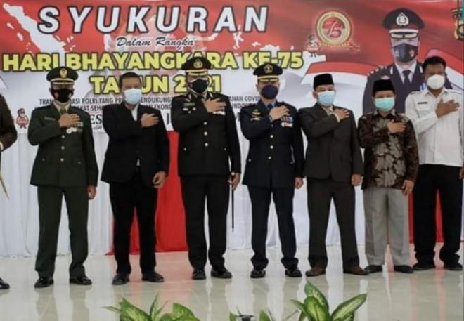 Bupati Romi Hadiri Syukuran HUT Bhayangkara di Mapolres Tanjabtim