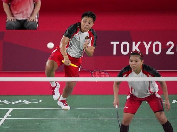 Hasil Bulutangkis Olimpiade: Greysia Polii/Apriyani Rahayu . (Foto: AP Photo)
