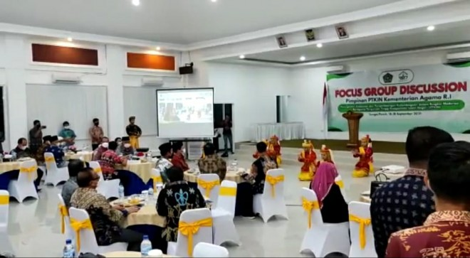 FGD Forum Rektor PTKIN di IAIN Kerinci Dihadiri Puluhan Rektor Se Indonesia