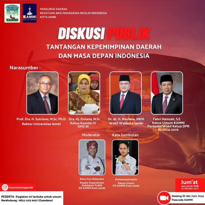 Seru dan Hangat, Wawako Maulana dan Fahri Hamzah Debat Kepemimpinan Generasi Muda
