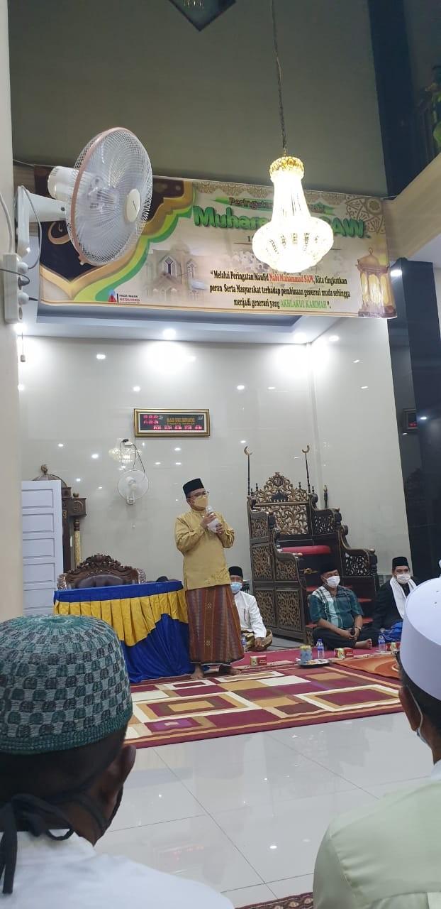 Hadiri Maulid Nabi, Wawako Maulana Ajak Warga Memakmurkan Masjid